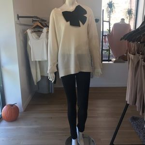 Kate Spade ♠️ Cream Bow Sweater, Large, NWT